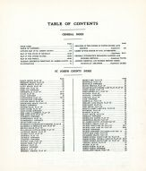 Table of Contents, St. Joseph County 1930