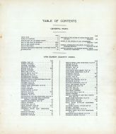 Table of Contents, Van Buren County 1912