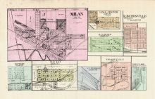 Milan, Fosters, Scio, Lima Center, Dixboro, Rawsonville, Superior, Mooreville, Hall's Addition, Washtenaw County 1915