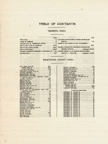 Table of Contents, Washtenaw County 1915