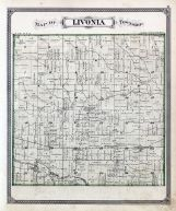 Livonia Township Rouge River Atlas Wayne County 1876 with