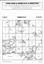 Turner T50N-R23W, Aitkin County 1992 Published by Farm and Home Publishers, LTD