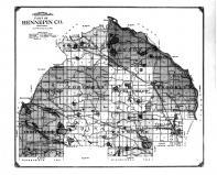 Hennepin County Topographical Map, Anoka and Hennepin Counties 1914