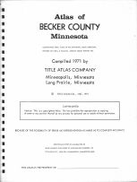 Title Page, Becker County 1971