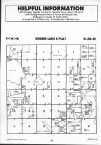 Round Lake T141N-R38W, Becker County 1992 Published by Farm and Home Publishers, LTD