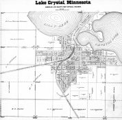 Lake Crystle, Lilly Lake, Crystal Lake, Blue Earth County 1895