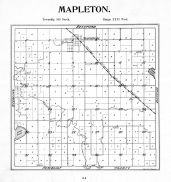 Mapleton Township, Rogers Lake, Lura Lake, Blue Earth County 1895