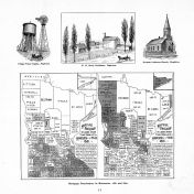 Minnesota Mortgage Forclosures Map 1881-1891, Blue Earth County 1895