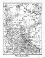 Minnesota State Map, Blue Earth County 1895