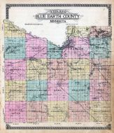 Blue Earth County Outline Map, Blue Earth County 1914