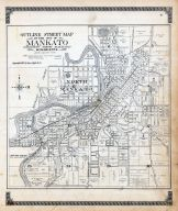 Mankato City Street Index Map, Blue Earth County 1914