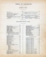 Table of Contents, Blue Earth County 1914