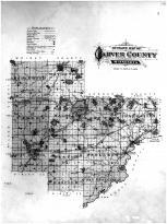 Carver County Outline Map, Carver County 1898
