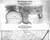 Watertown Village, Minnewashta Park - Above, Carver County 1898