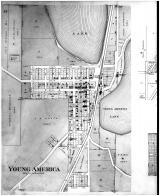 Young America, Hamburg, Coney Island, Norwood Village - Left, Carver County 1898