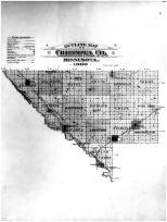 Chippewa County Outline Map, Chippewa County 1900