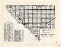 Chippewa County Highway Map, Chippewa County 1940c