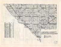 Chippewa County Road and Ditch Map, Chippewa County 1940c