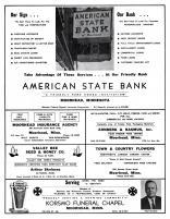 American State Bank, Moorhead Insurance Agency, Arnberg & Rasmus, Valley Bee Seed & Honey, Korsmo, Clay County 1961