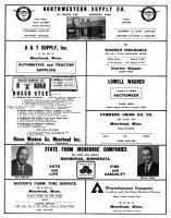 Northwestern Supply. A&T Supply, Wagner Insurance, Rusco Steel, Lowell Wagner, Farmers Union Oil, Kiefer, Clay County 1961