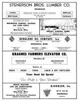 Stenerson Brothers Lumber, Moorhead Federal Savings & Loan, Wright Funeral, Bergland Oil, Kragnes Farmers, Clay County 1961