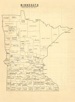 Minnesota - State Map, Clay County 1961