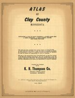 Title Page, Clay County 1961