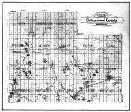 Cottonwood County Outline Map, Cottonwood County 1909