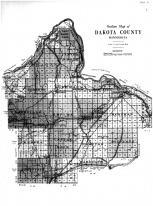 Dakota County Outline Map, Dakota County 1916 Microfilm