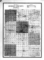 Dodge County Outline Map, Dodge County 1914