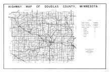 Douglas County Highway Map, Douglas County 1950