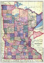 Minnesota State Map, Faribault County 1913