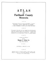 Title Page, Faribault County 1962