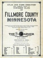 Index Page, Title Page, Fillmore County 1915