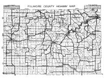 Fillmore County Highway Map, Fillmore County 1940c