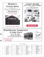 Bloomfield Township Owners Directory, Ad - Buster's Country Meats, Zeimetz Motors, Maple Springs Campground, Fillmore County 2003