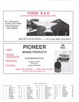 Canton Township Owners Directory, Ad - Yoder B and H, Pioneer Brand Products, Fillmore County 2003