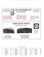 Chatfield Township Owners Directory, Ad - Valley Featherlite, Napa Auto Parts, Fillmore County 2003