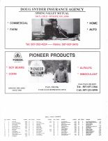 Forestville Township Owners Directory, Doug Snyder Insurance Agency, Pioneer Products, Fillmore County 2003