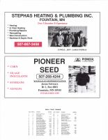Norway Township Owners Directory, Ad - Stephas Heating and Plumbing Inc., Pioneer Seed, Fillmore County 2003