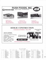 Rushford Village Township Owners Directory, Ad - Rush Foods, Inc., Himlie Construction, Fillmore County 2003