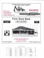 Sumner Township Owner Directory, Ad - Wagner Construction, First State Bank, Fillmore County 2003