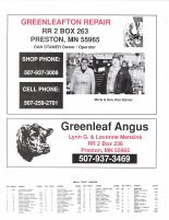 York Township Owners Directory, Ad - Greenleafton Repair, Greenleaf Angus, Fillmore County 2003