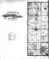 Freeborn County Outline Map - Left, Freeborn County 1895