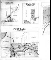 Freeborn Village, Twin Lake, Emmons, Itasca City, Clarks Grove PO - Left, Freeborn County 1895