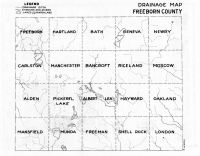 Freeborn County Drainage Map, Freeborn County 195x