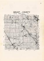 Grant County Outline Map, Grant County 1948