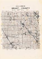 Grant County R.E.A. Lines Map, Grant County 1948