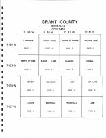 Index Map, Grant County 1996