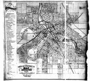 Minneapolis Map 1873, Hennepin County 1873